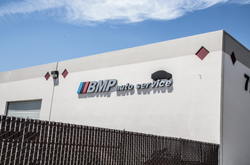 BMP Logo on a Wall